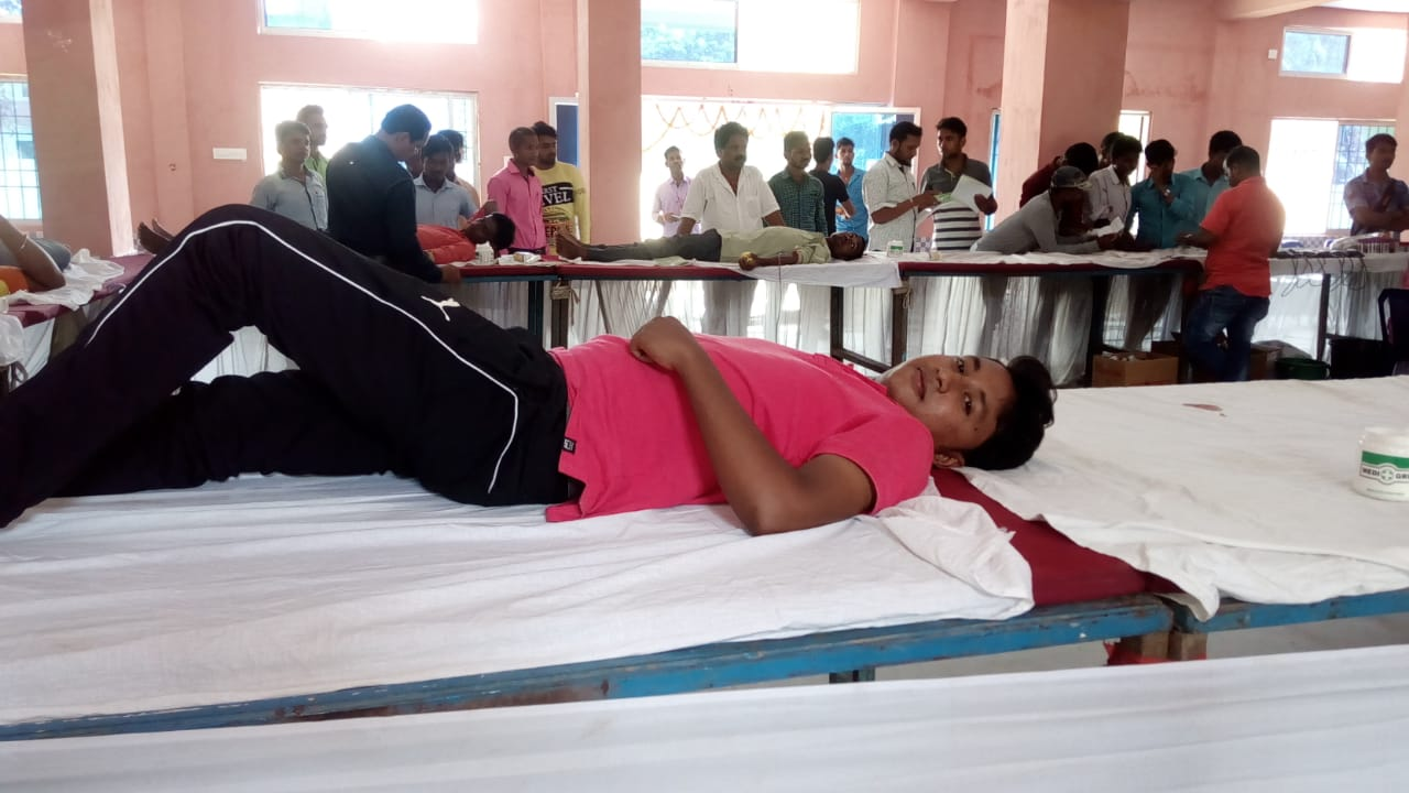Blood donation by BYV volunteer